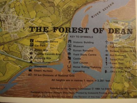 Contour Map of The Forest of Dean